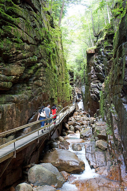 1. Hike Flume Gorge in Franconia Notch State Park, Lincoln.