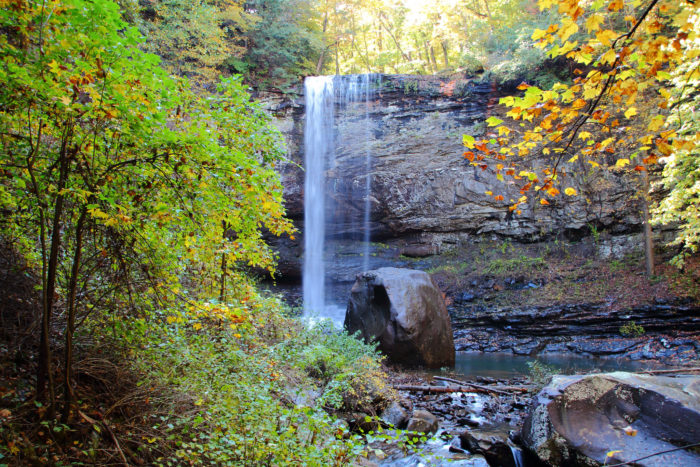You'll see two waterfalls along this trail. The first is Cherokee Falls, the second is seen below, called Hemlock Falls.