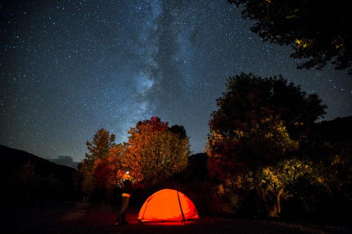2. Sleep under the stars.