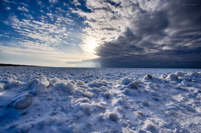 Lake Michigan will be a caudron of ice chunks all winter...