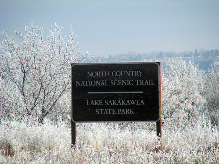 After going through over 200 miles of North Dakota terrain, it ends along the bluffs around scenic Lake Sakakawea.