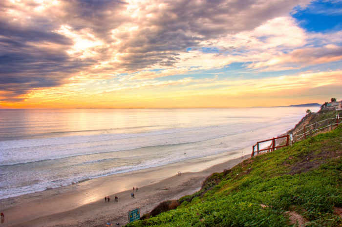 8. Beacons Beach in Encinitas will take your breath away with its beauty. It's a perfect spot for strolling or lounging in the sand on a sunny San Diego afternoon.