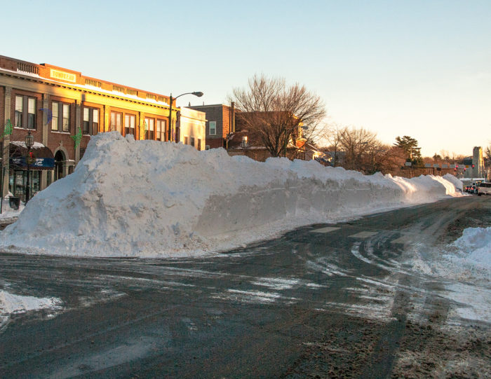 3. You've been overshadowed by the size of snow banks.