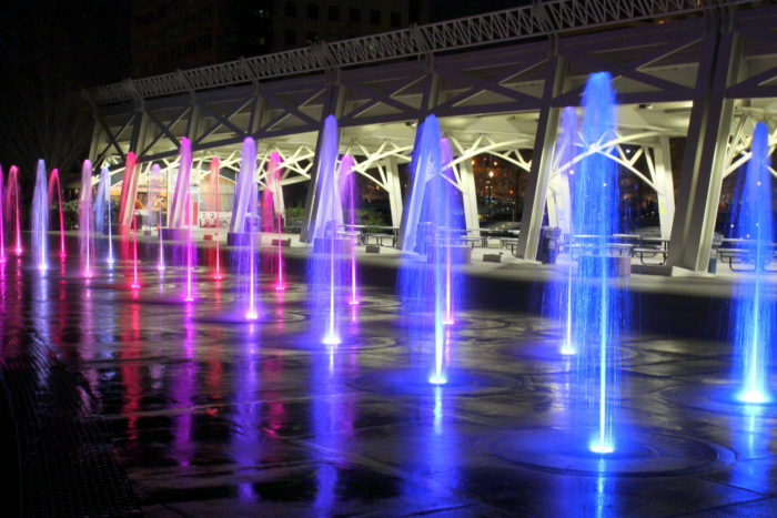 6. Play in the fountains at Bicentennial Park