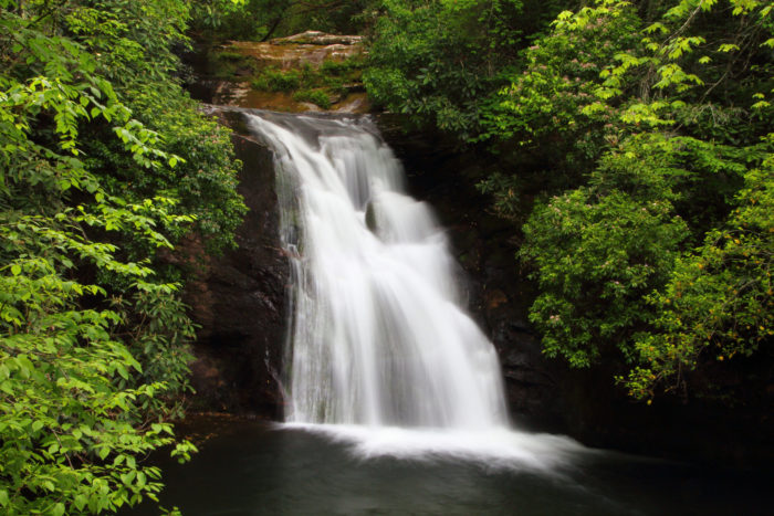 This stunning waterfall reaches 10-feet in depth, while maintaining a cool temperature of 40-50 degrees Fahrenheit.