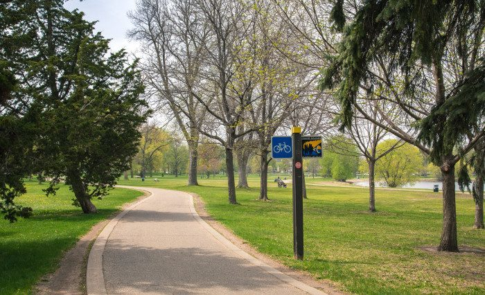 7. Grand Rounds in the city offers views of the chain of lakes, and you can bike or even just park in the nearby lots.