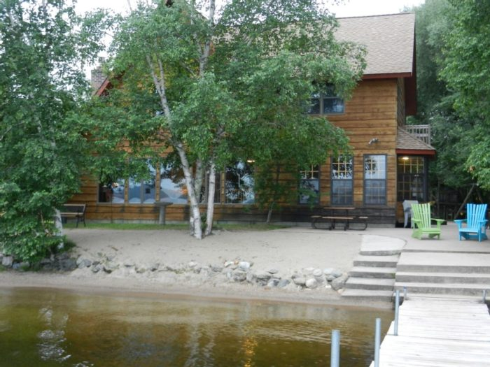 10. This beautiful retreat on Lake Vermilion has a sandy beach and massive yard. Check out the equally gorgeous interior or rent it here.