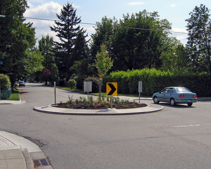 7. You've witnessed people stop in the middle of a traffic circle.