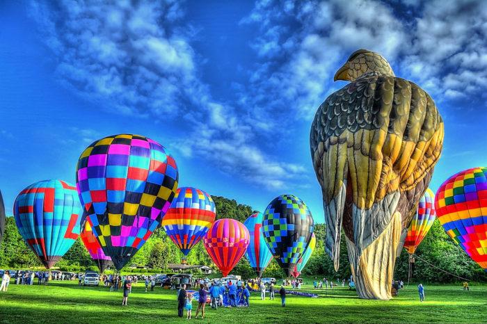 4. Attend the Atlantic Hot Air Balloon Race.