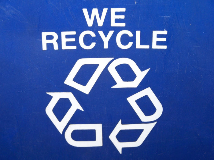 9. We're big on recycling, reuse and upcycling...