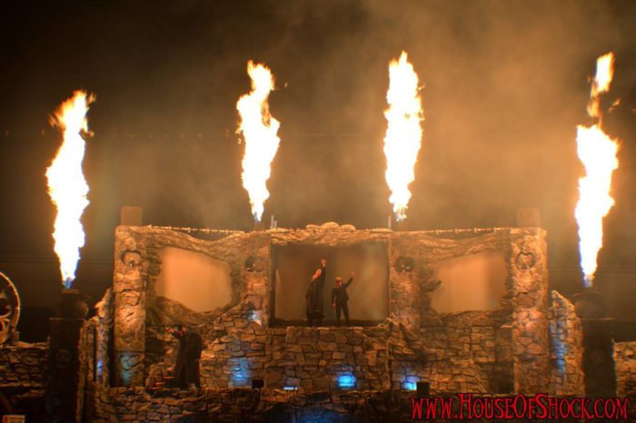 There are also some truly breathtaking pyrotechnics that put a cap on the end of a night at the house of shock that you don't want to miss.
