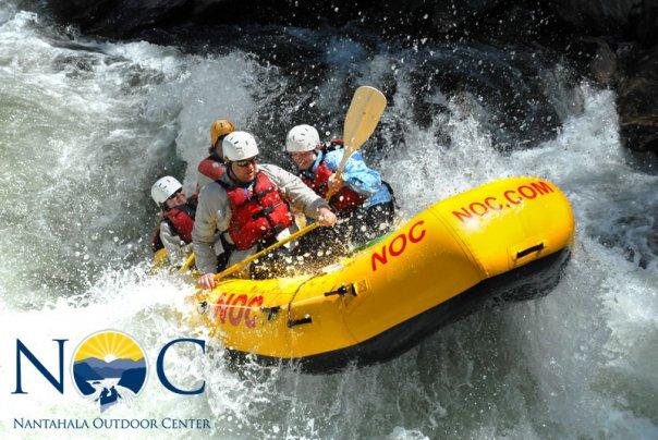 3. Go whitewater rafting at the amazing Nantahala Outdoor Center.