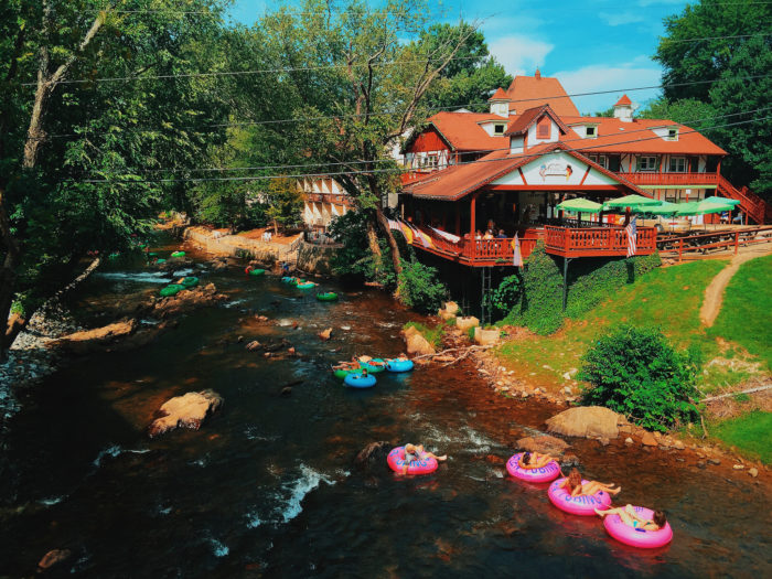 1. Tubing down the Chattahoochee River with friends.