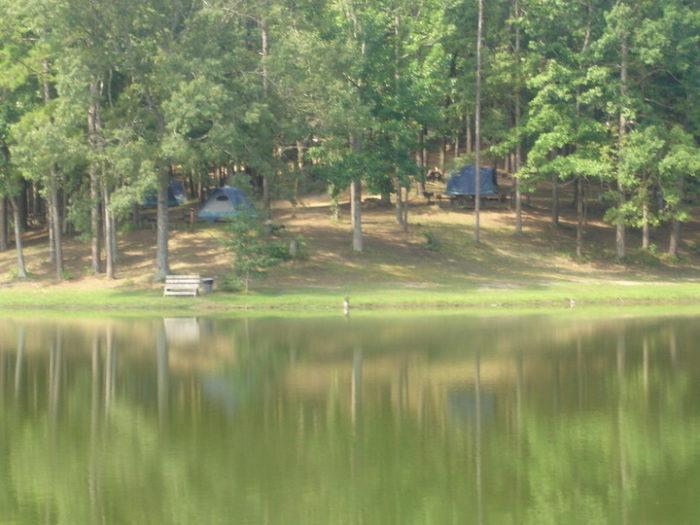 The park has 6 waterfront tent sites.