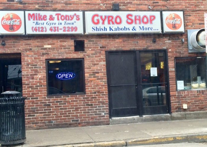 2. Mike and Tony's Gyros -1414 East Carson Street