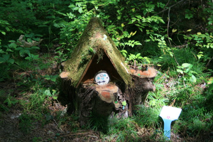Some are nestled between plush plants, for a hobbit-like vibe.