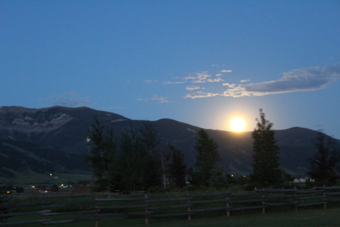 1. The beginning of the Montana moonrise on this year's summer solstice.