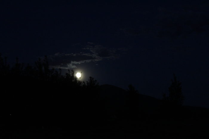 2. The summer solstice full moon in all its glory, shining over Big Sky Country.