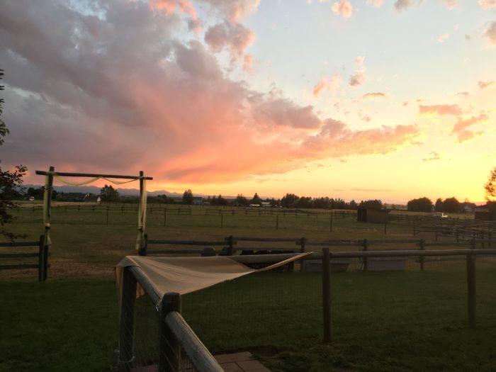 9. A breathtaking Bozeman sunset.