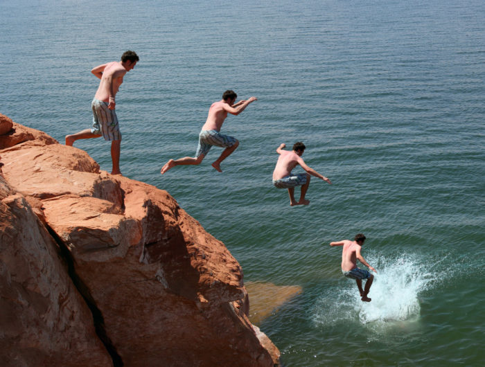 And to cool off, you can jump off one of the cliffs that surround the lake.