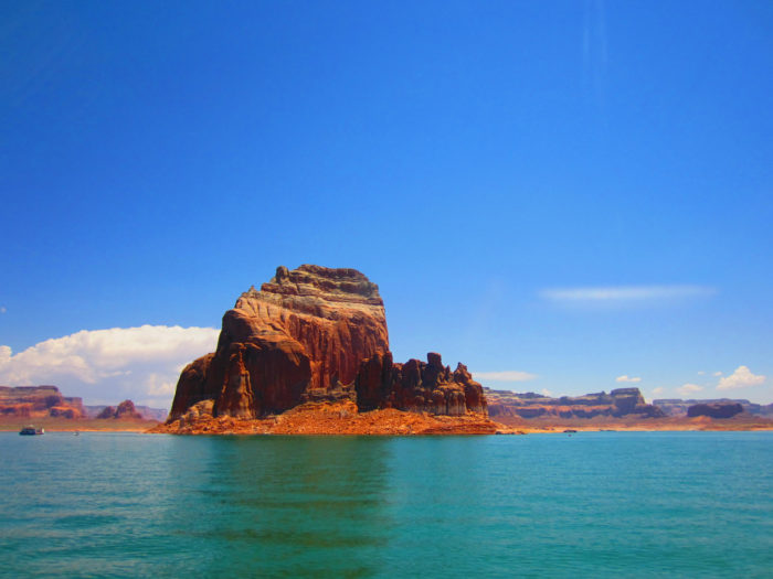 Whether green or blue, Lake Powell is often a rich, beautiful jewel tone.