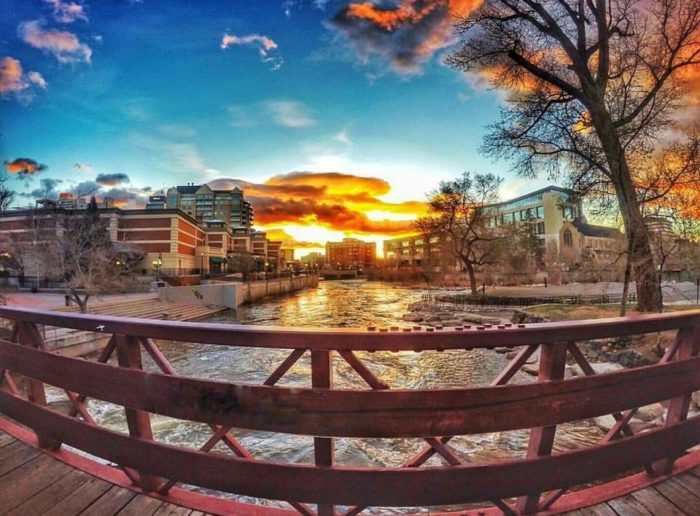 The Riverwalk District in Reno is home to an enticing waterfront trail.