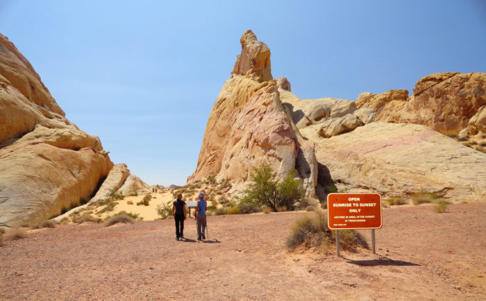 Coming in at just over one mile long, the White Domes Loop Trail can be found within the Valley of Fire State Park.
