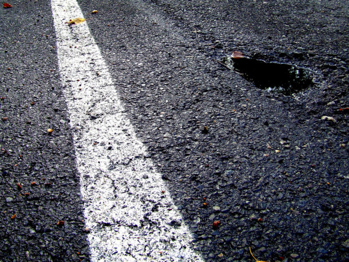 2. You've hit a pothole so deep you wondered how you ever made it out alive.