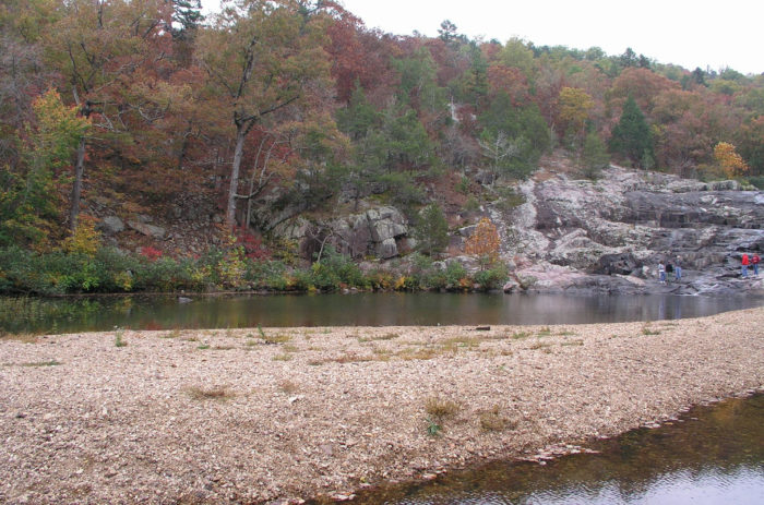 If you're feeling particularly adventurous, the Ozark Trail intersects Rocky Creek about a half mile downstream via a roadbed that follows the creek.