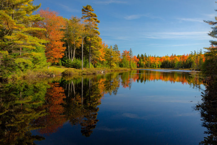 9. Be a leaf-peepah at Belgrade Lakes, Central Maine.