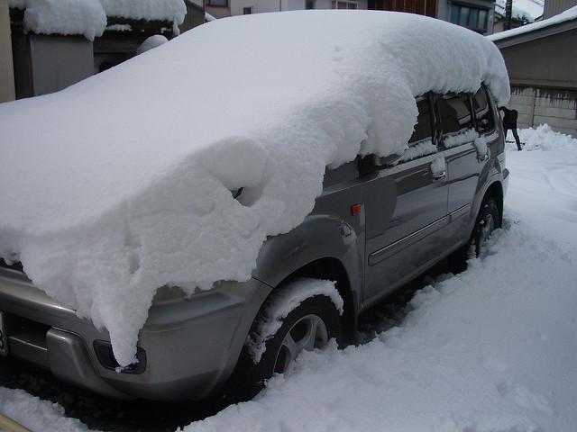 9. Your car has been unexpectedly snowed in when you weren't prepared.