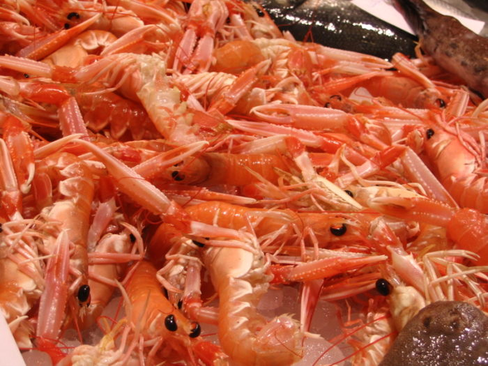 2) Serving crawfish or shrimp from China.