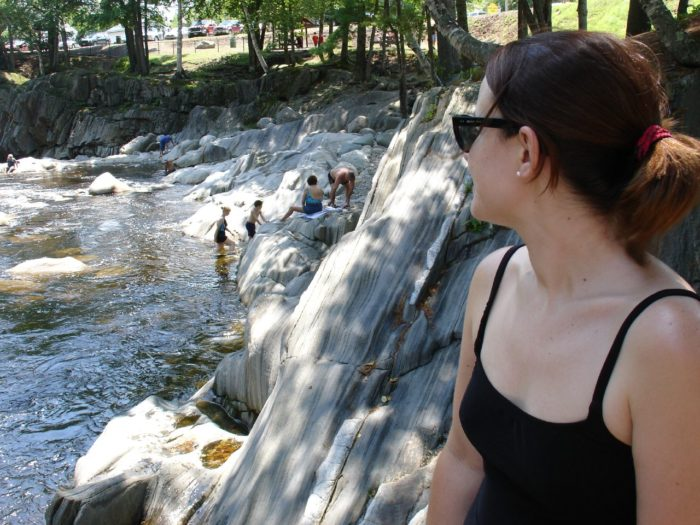 15. Enjoy a classic Maine swimming hole by going to Coos Canyon, Oxford County.