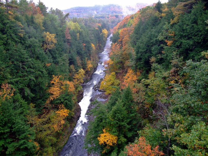 8.  Check out the Quechee Gorge.