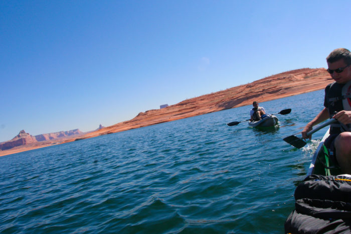 Kayaking on the clear, clean water is also fun.