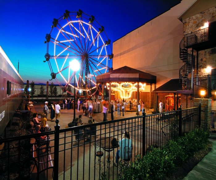 From the moment you walk up to the park, the setting screams old-timey charm.