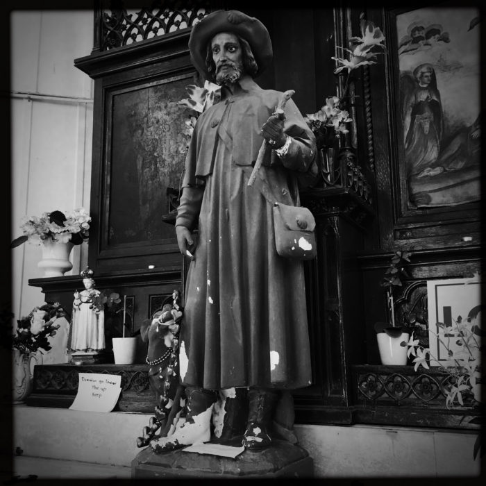 St. Roch was born in 1348, where he became well known for surviving the plague.
