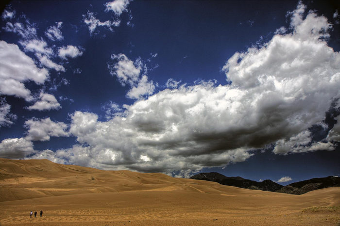 According to the National Park Service, the Sand Dunes is actually the quietest national park in the country.