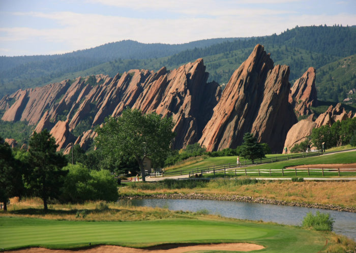 Boulder is famous for them, but Littleton also features some truly amazing flatirons, and the view from Arrowhead Golf Club is stunning.
