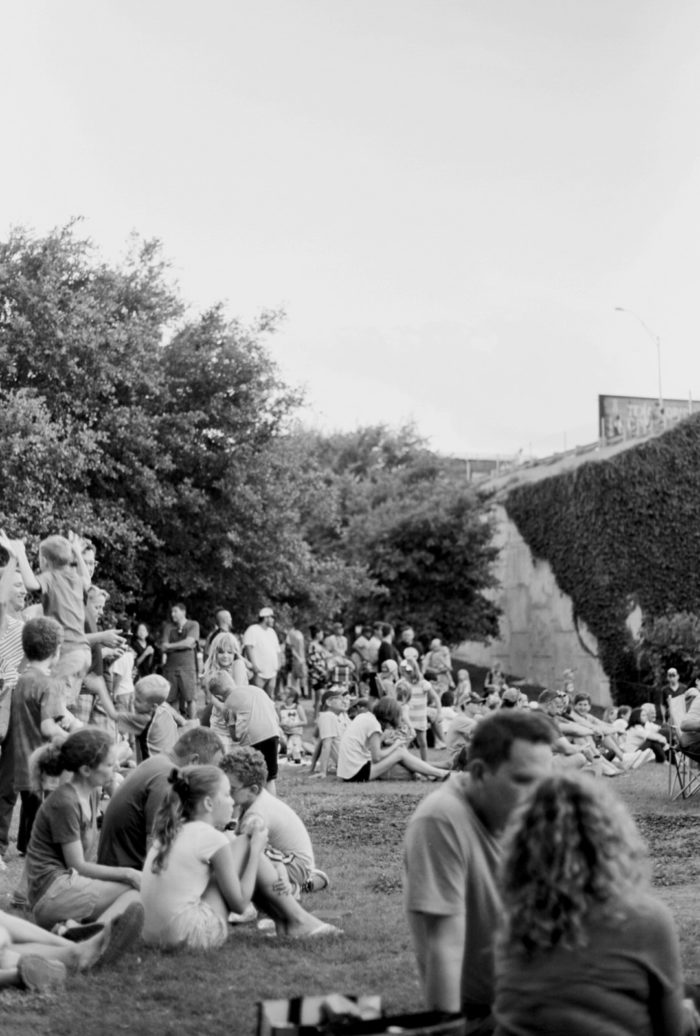 ...or relax on the lawn below and gaze up as they take over the horizon.