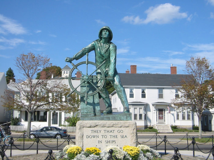 One of the most iconic spots in Gloucester is the Fishermen's Memorial on Cape Ann.   It bears the names of fishermen who died at sea dating back to the 1700s.