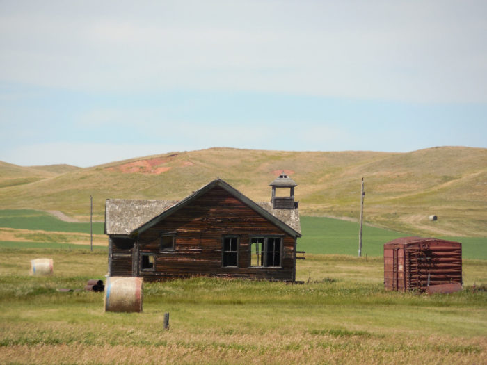 8. The Old Griffon Schoolhouse near Bowman, built in 1920 and since abandoned.