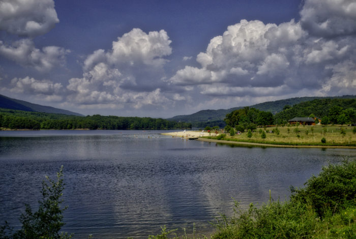 This watery Western Maryland gem spans 243 acres and is the focal point of the park.
