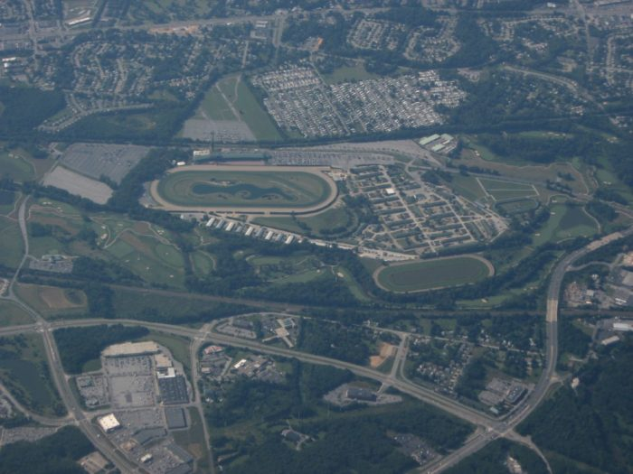 12. This is a stunning closeup of our only thoroughbred racetrack.