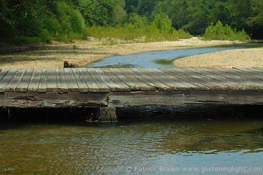 The bridge spans McGehee Creek.
