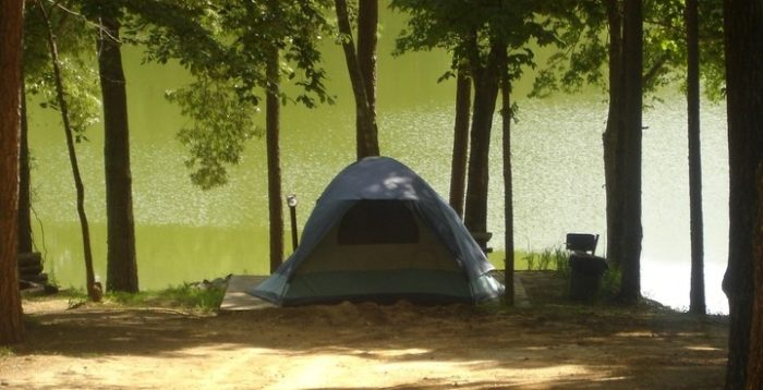Turn your day trip into a mini-vacation by camping at Golden Memorial State Park.
