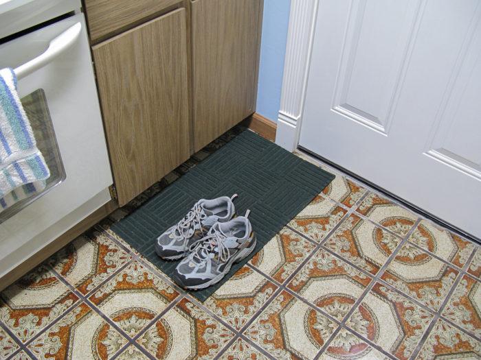 3.  Wear your shoes inside.