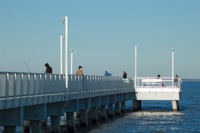 The Fishing Pier is what brings the most traffic to Woodland Beach.