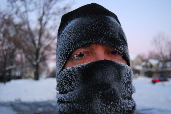 9. You've been more worried about the wind chill than the actual outdoor temperature.