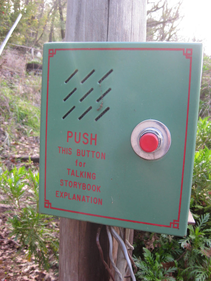 Luckily, each tableau came equipped with a button-activated speaker that would explain the scene being presented.